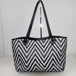 Ellaine Turner Tote Bag Basket Weave Purse